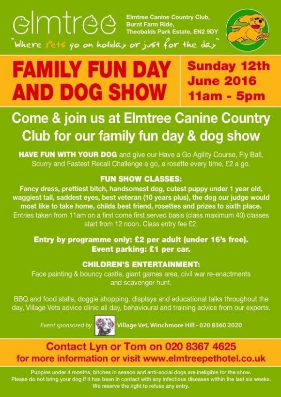 Elmtree Canine Country Club Family Fun Day and Dog Show