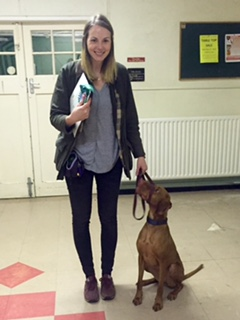 Our Silver achiever Emma with Rhubarb