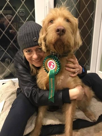 Rufus the rescue dog from Hungary gained his Bronze award