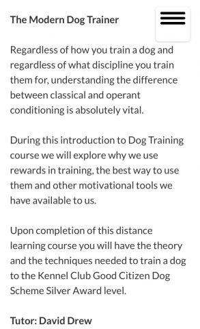 An introduction to Professional Dog Training Methods
