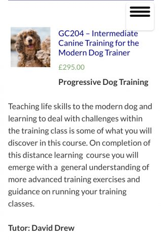 Intermediate Canine Training for the Modern Dog Trainer